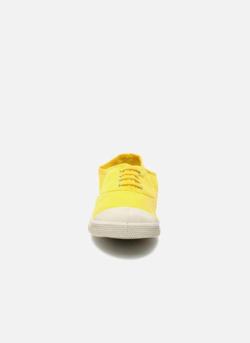 Baskets Bensimon Tennis Lacets W Jaune vue portées chaussures