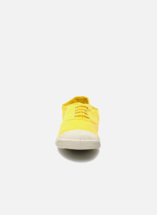 Trainers Bensimon Tennis Lacets Yellow model view