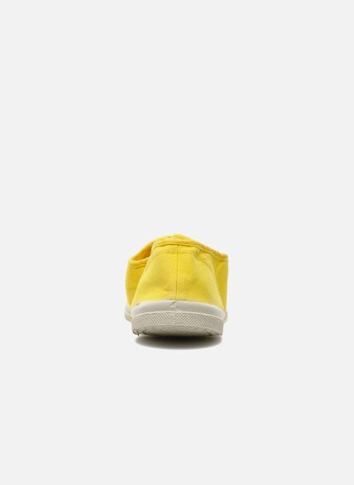 Sneakers Bensimon Tennis Lacets Geel rechts
