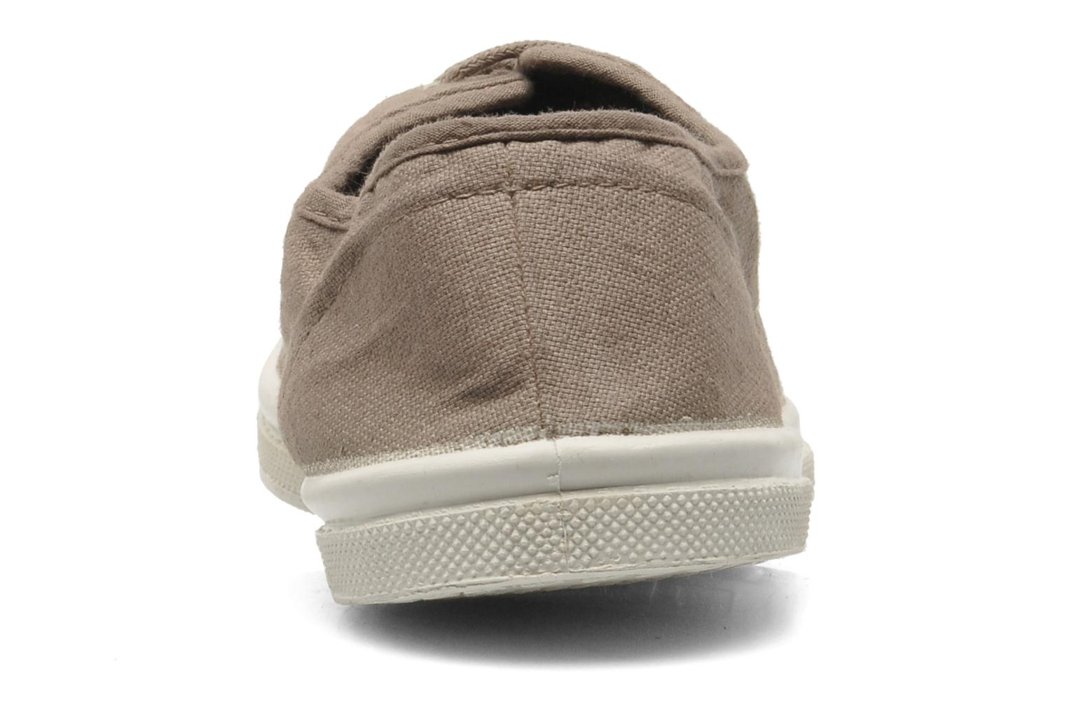 Trainers Bensimon Tennis Lacets Brown view from the right