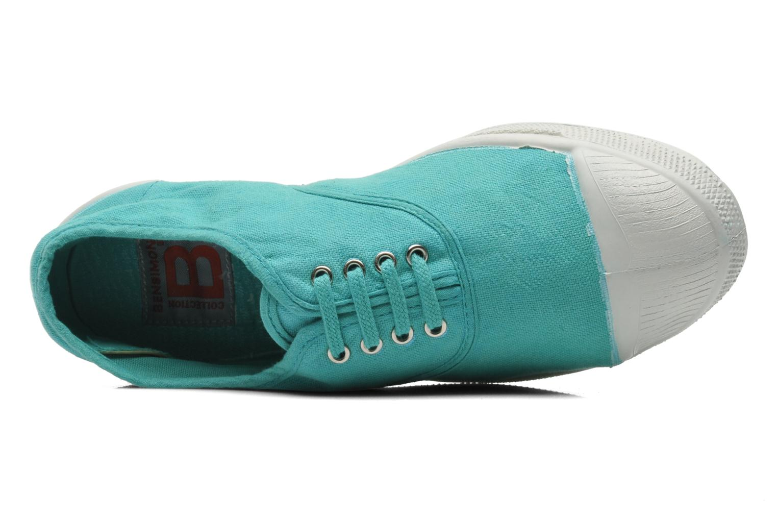 Trainers Bensimon Tennis Lacets Green view from the left