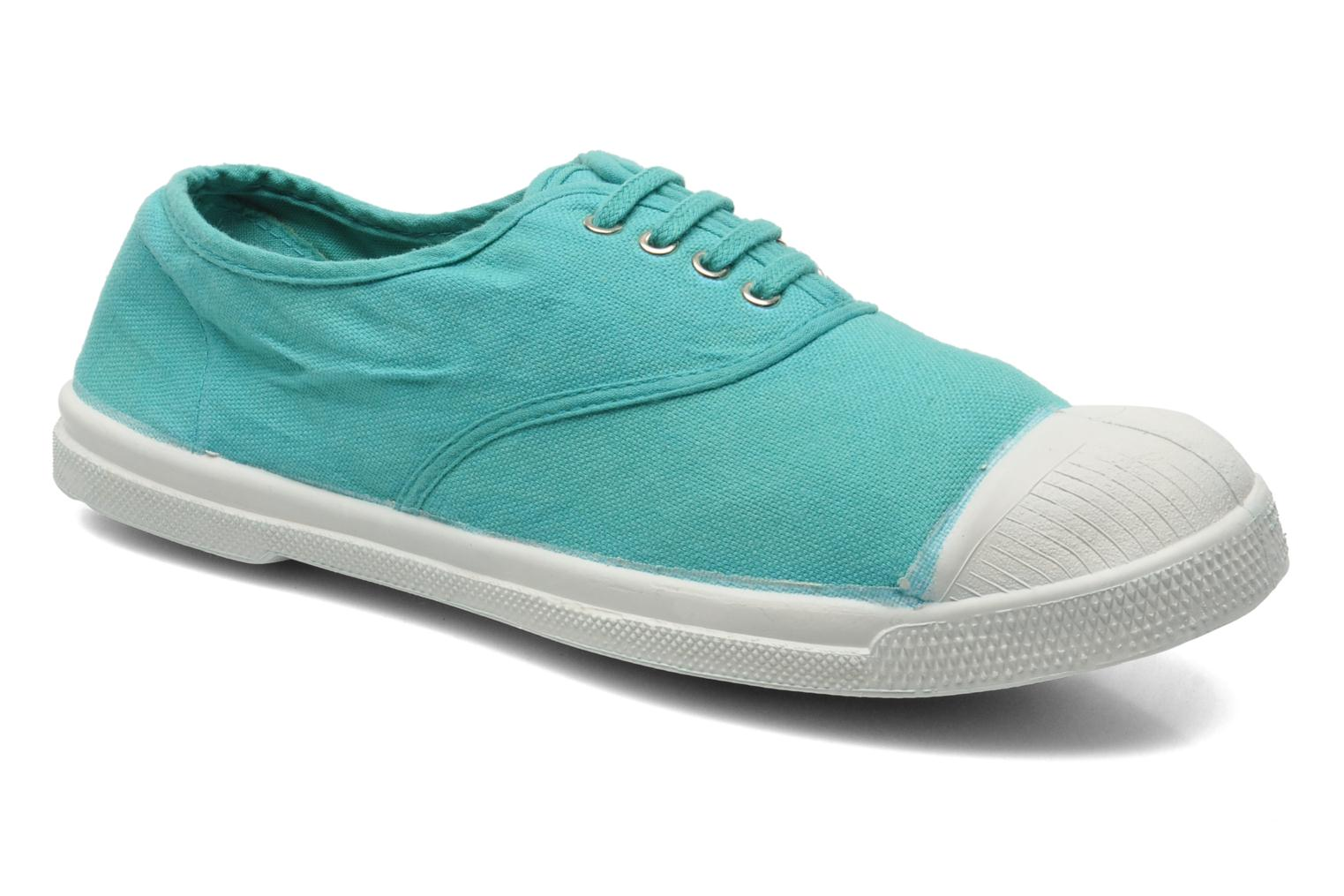 Trainers Bensimon Tennis Lacets Green detailed view/ Pair view
