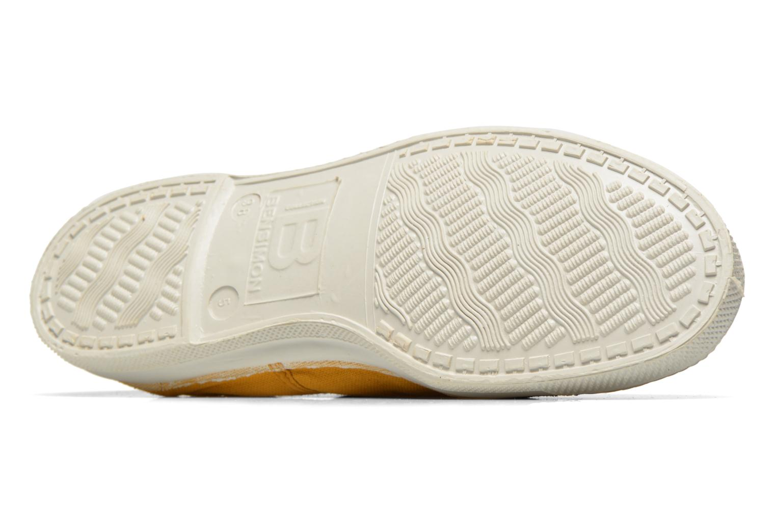 Trainers Bensimon Tennis Lacets Yellow view from above