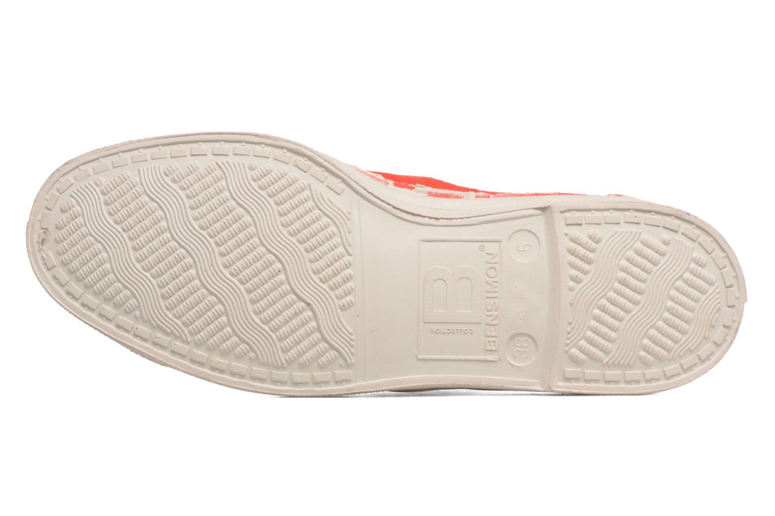 Trainers Bensimon Tennis Lacets Red view from above