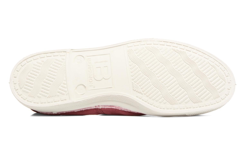 Sneakers Bensimon Tennis Lacets Bordeaux boven