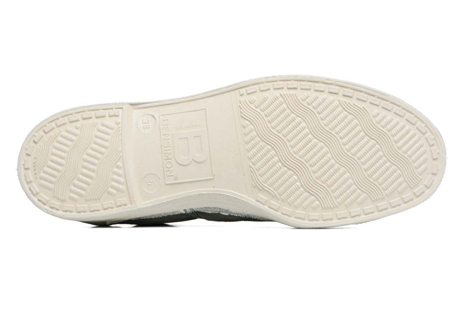 Trainers Bensimon Tennis Lacets Green view from above