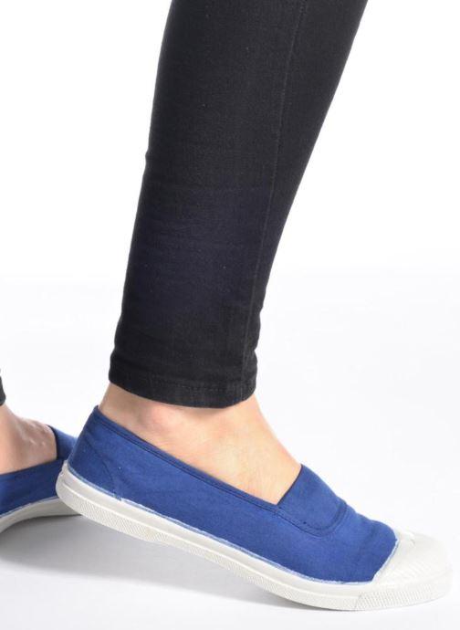 Ballerinas Bensimon Tennis Elastique blau ansicht von unten / tasche getragen