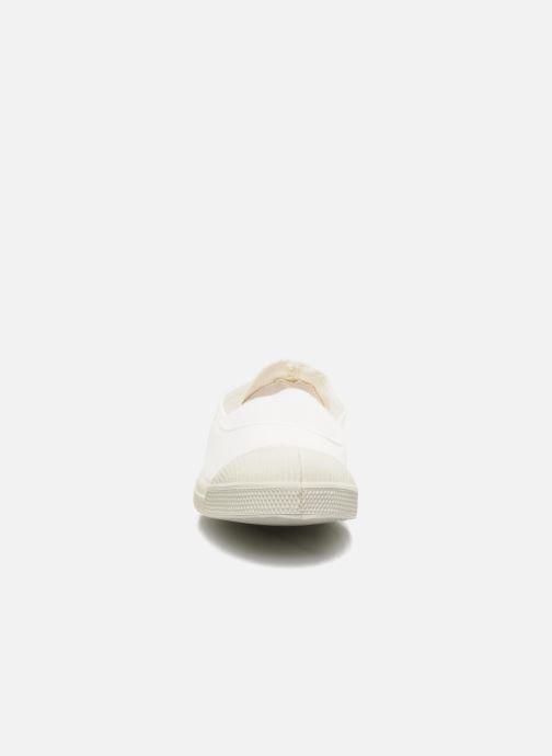 Ballet pumps Bensimon Tennis Elastique White model view