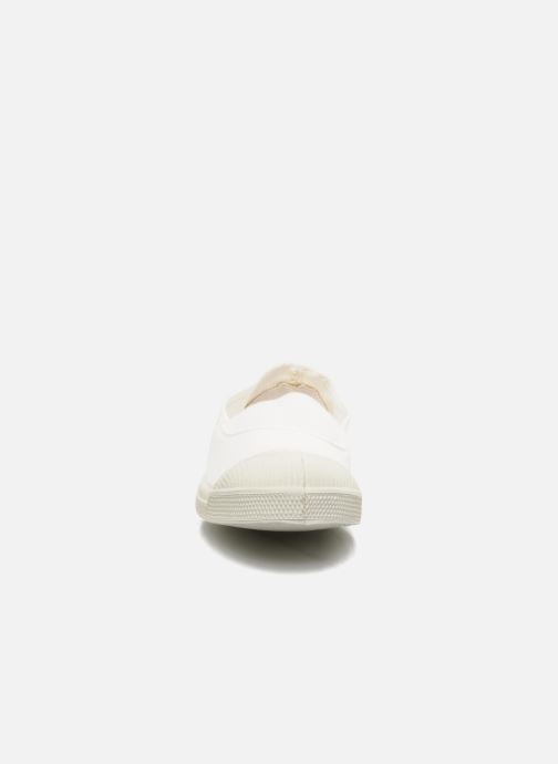 Ballerines Bensimon Tennis Elastique Blanc vue portées chaussures