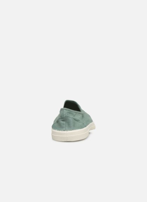 Ballet pumps Bensimon Tennis Elastique Green view from the right