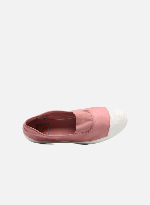 Ballet pumps Bensimon Tennis Elastique Pink view from the left