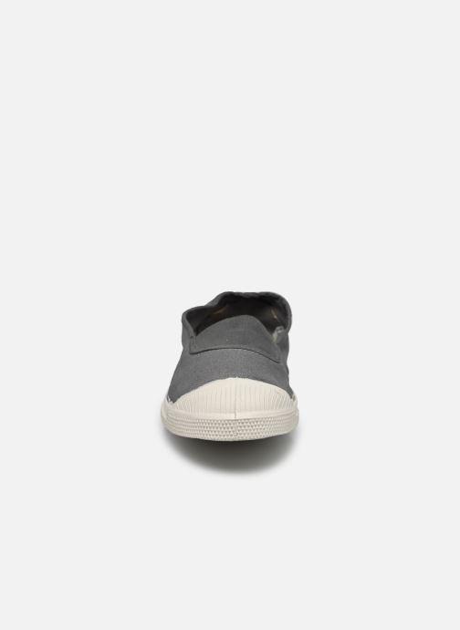 Ballerines Bensimon Tennis Elastique Gris vue portées chaussures