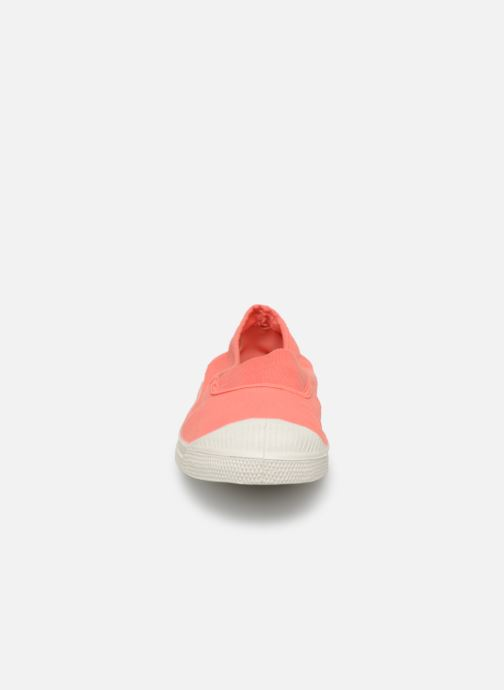 Ballet pumps Bensimon Tennis Elastique Pink model view
