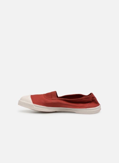 Ballerines Bensimon Tennis Elastique Bordeaux vue face