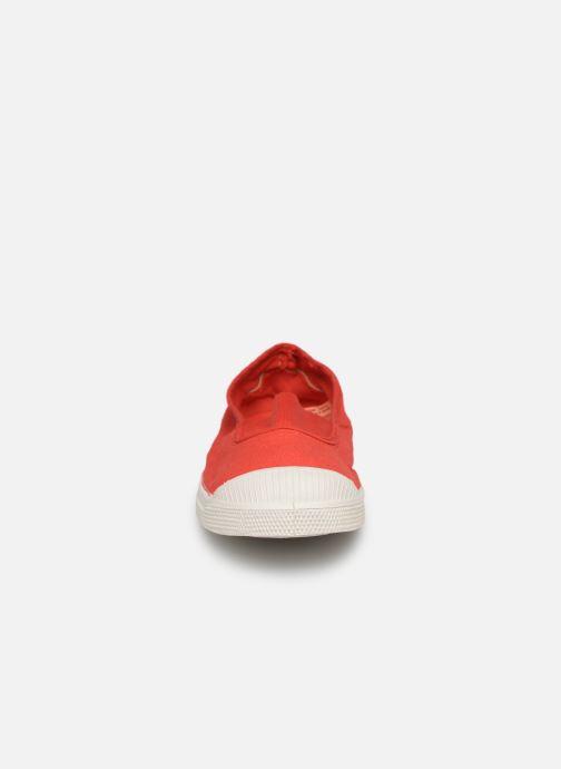 Ballerines Bensimon Tennis Elastique Rouge vue portées chaussures