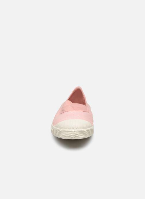 Ballerines Bensimon Tennis Elastique Rose vue portées chaussures