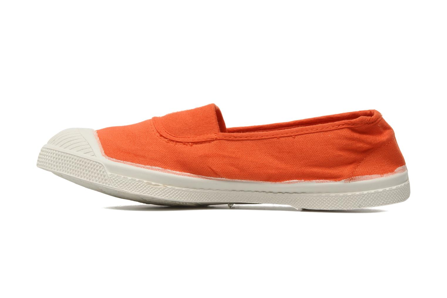 Ballerines Bensimon Tennis Elastique Orange vue face
