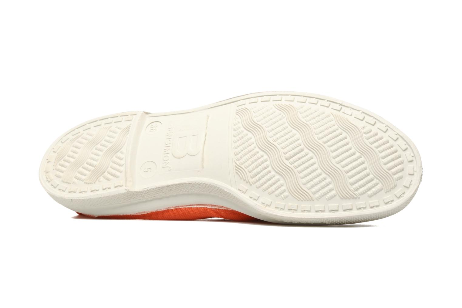 Ballerines Bensimon Tennis Elastique Orange vue haut