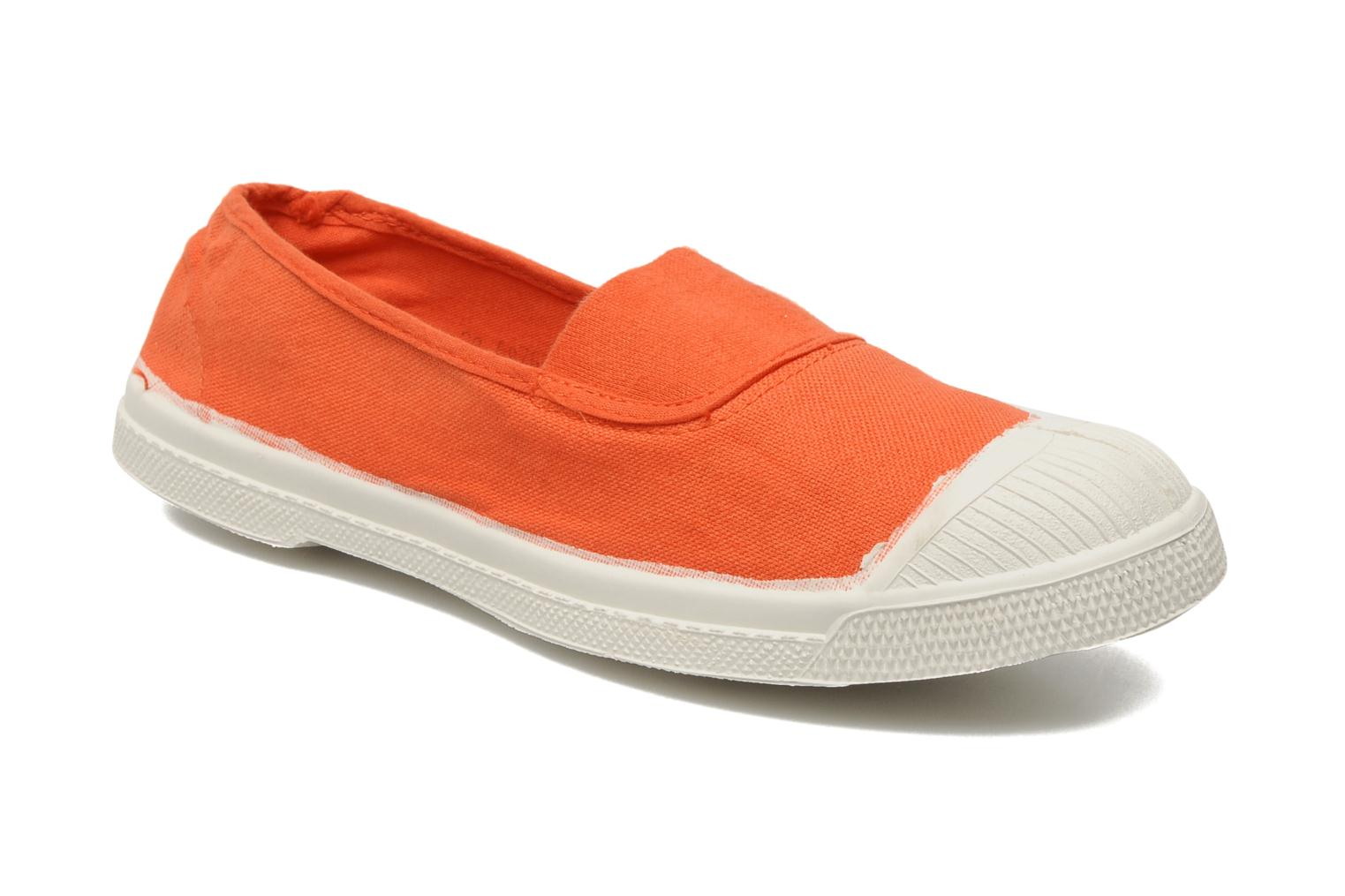 Ballerines Bensimon Tennis Elastique Orange vue détail/paire