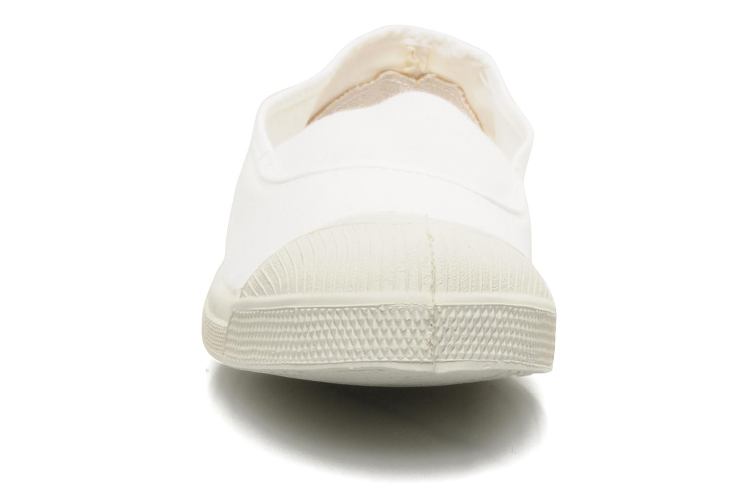 Ballet pumps Bensimon Tennis Elastique White model view