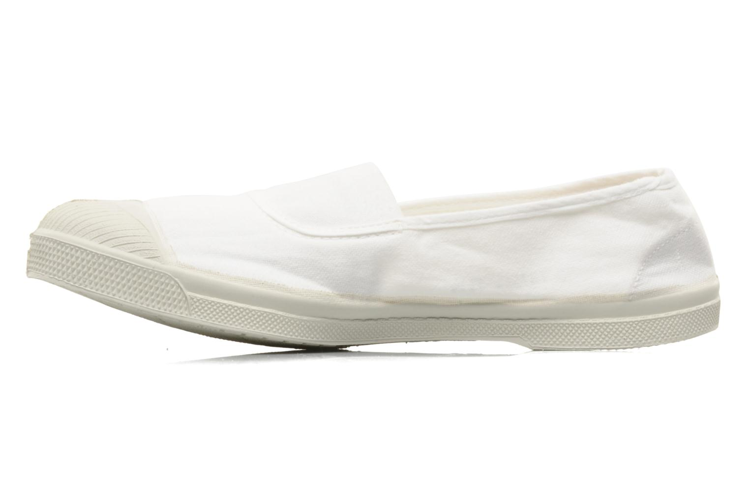 Ballet pumps Bensimon Tennis Elastique White front view