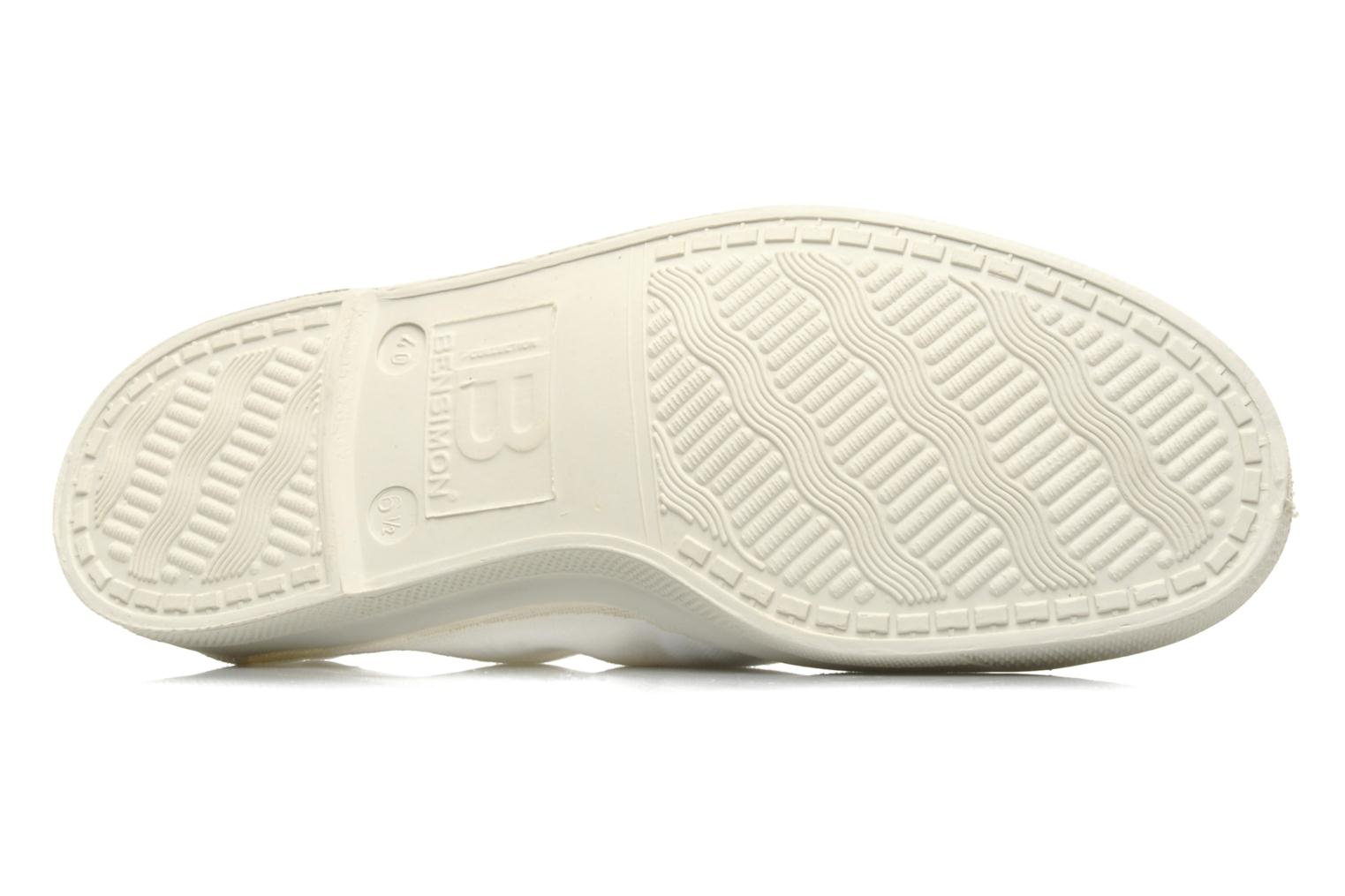 Ballet pumps Bensimon Tennis Elastique White view from above