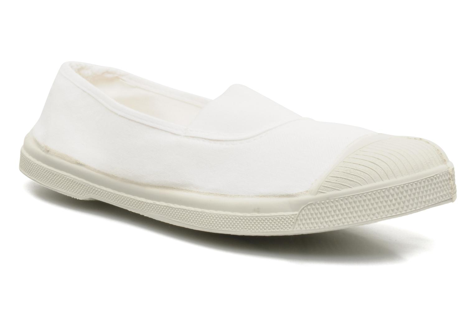 Ballet pumps Bensimon Tennis Elastique White detailed view/ Pair view