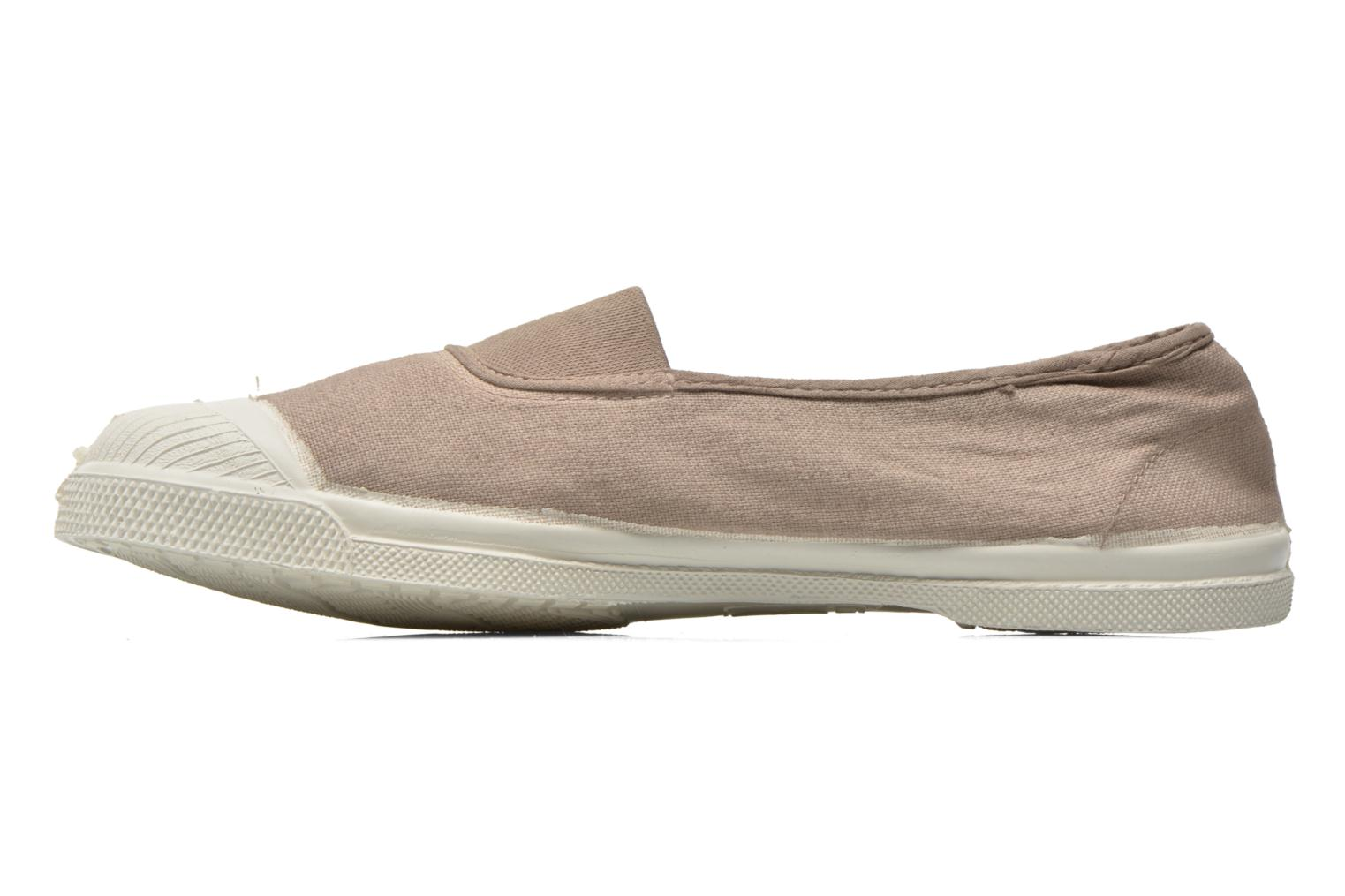 Ballerines Bensimon Tennis Elastique Beige vue face