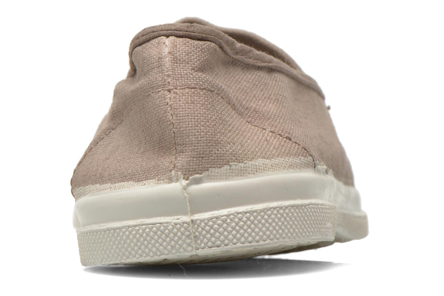 Ballet pumps Bensimon Tennis Elastique Beige view from the right