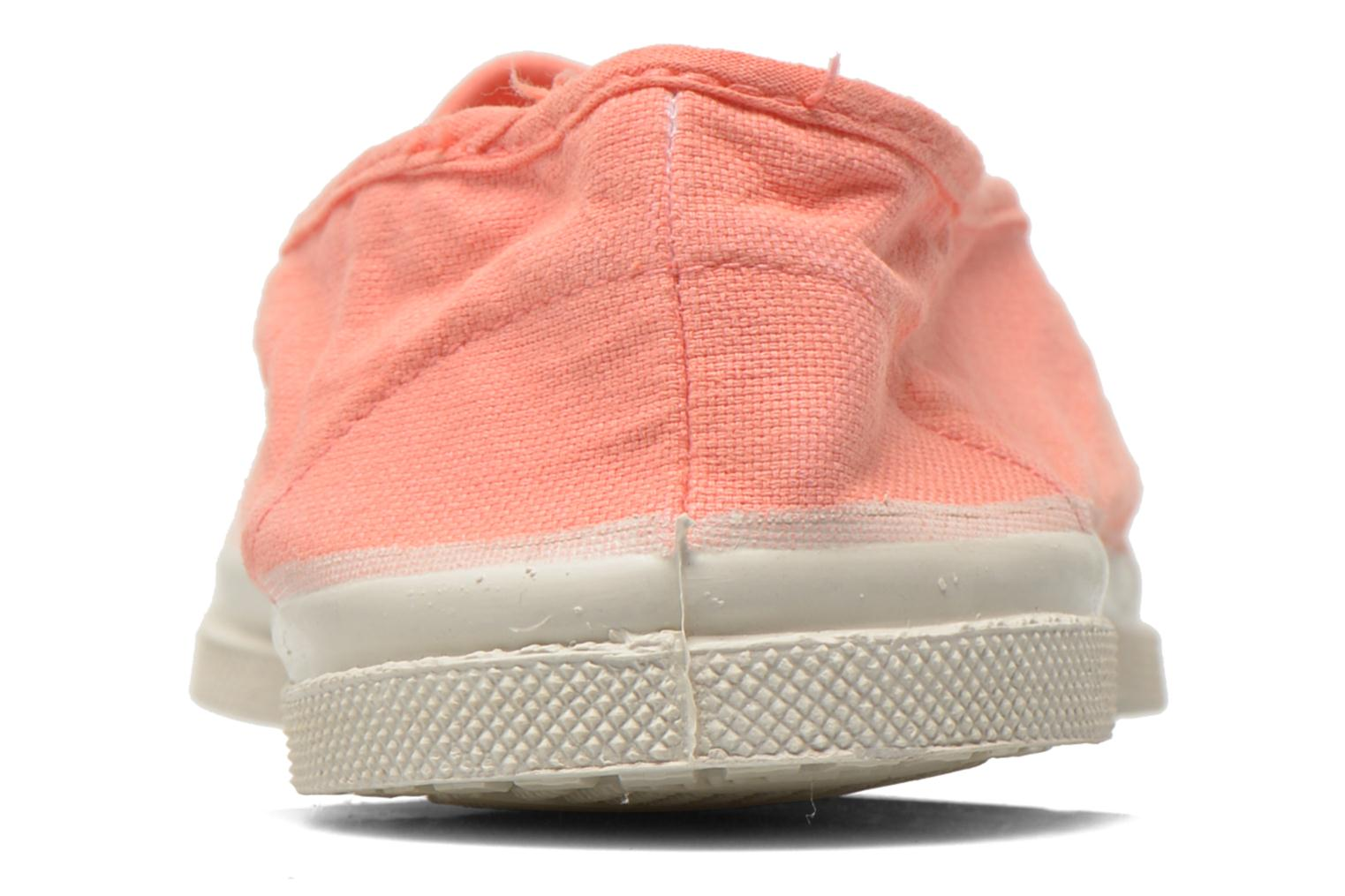Ballet pumps Bensimon Tennis Elastique Orange view from the right