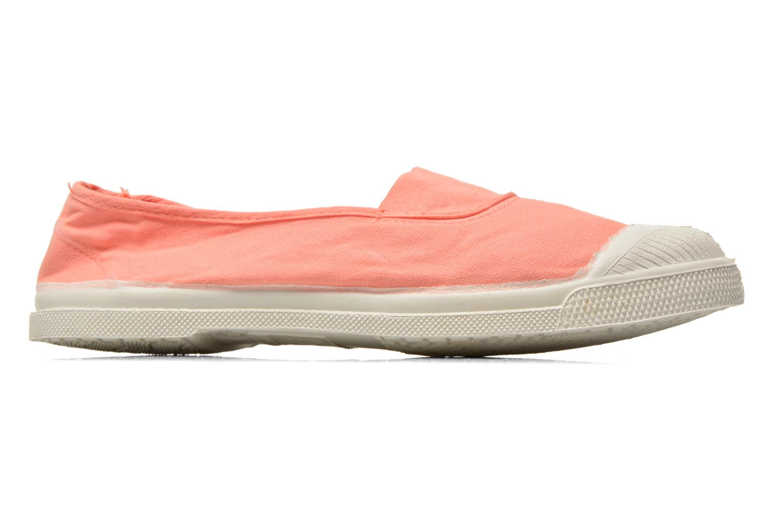 Ballet pumps Bensimon Tennis Elastique Orange back view