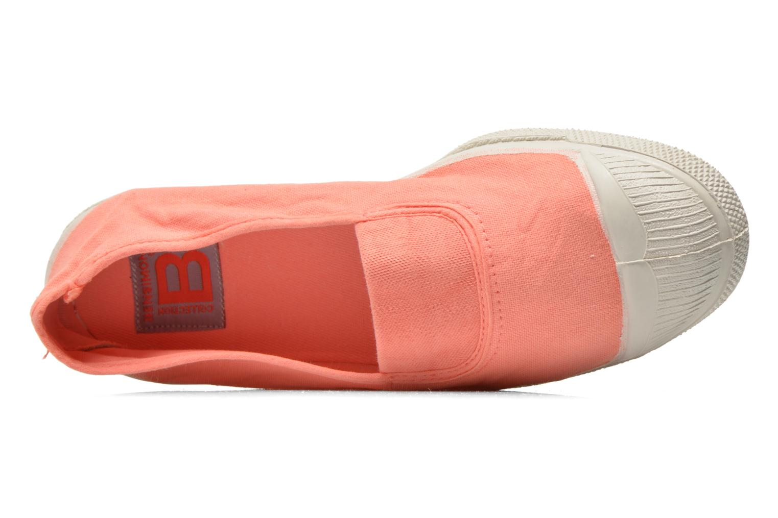 Ballerines Bensimon Tennis Elastique Orange vue gauche