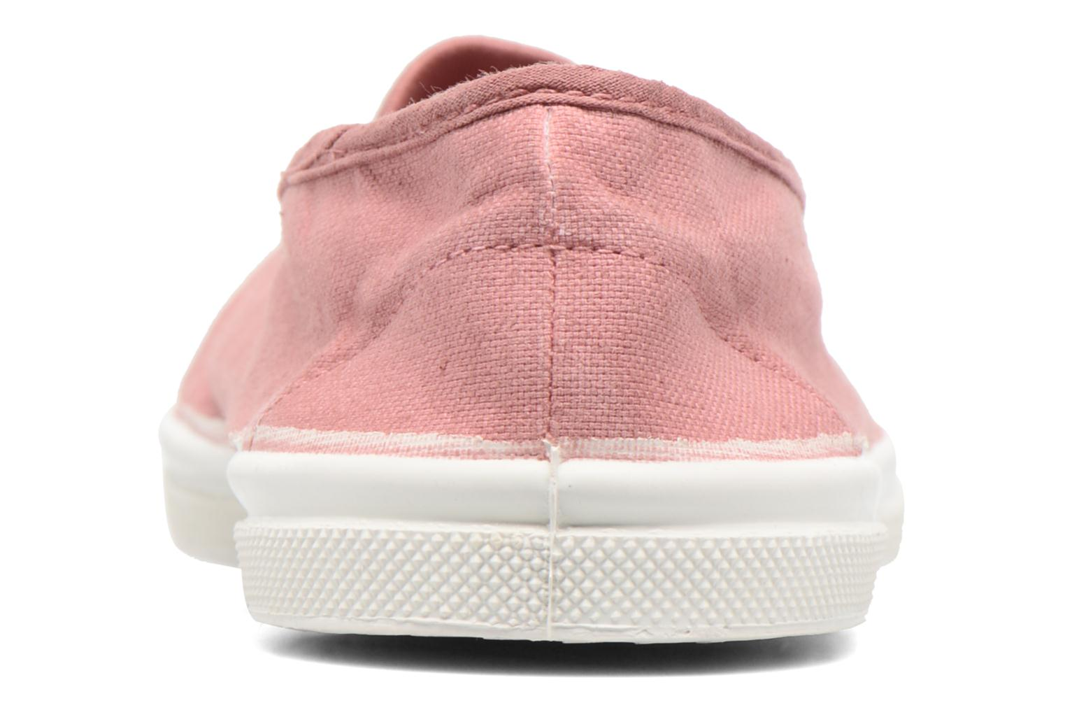 Ballet pumps Bensimon Tennis Elastique Pink view from the right