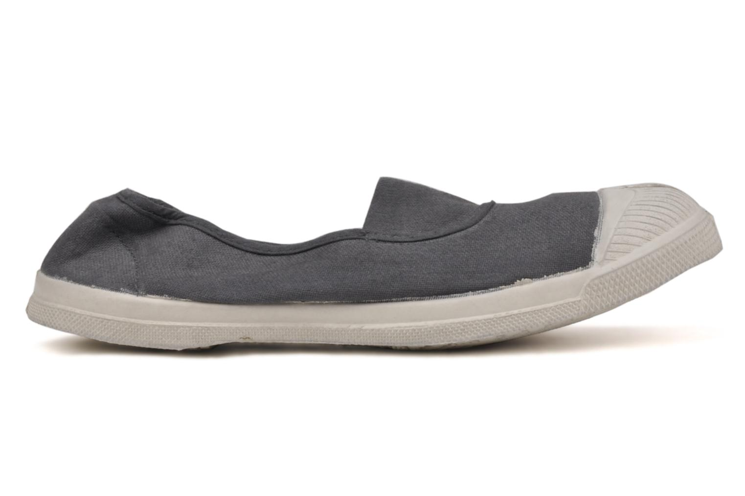 Ballet pumps Bensimon Tennis Elastique Grey back view