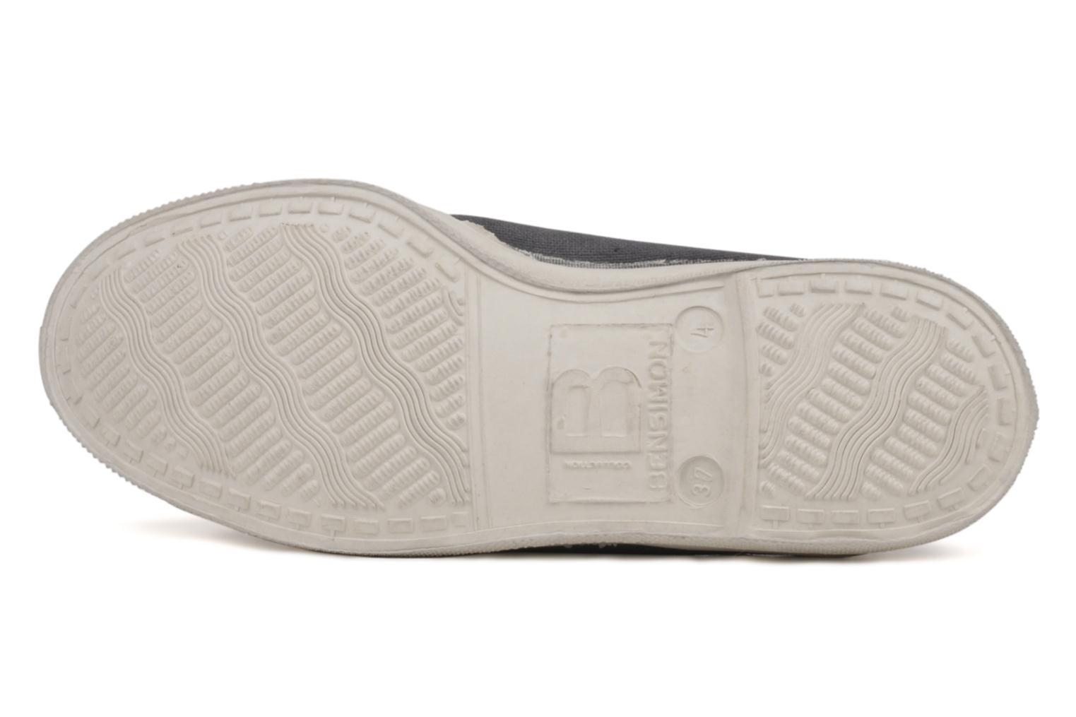 Ballet pumps Bensimon Tennis Elastique Grey view from above