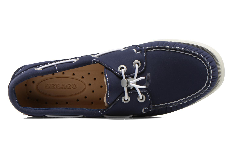 Chaussures à lacets Sebago Docksides W Bleu vue gauche
