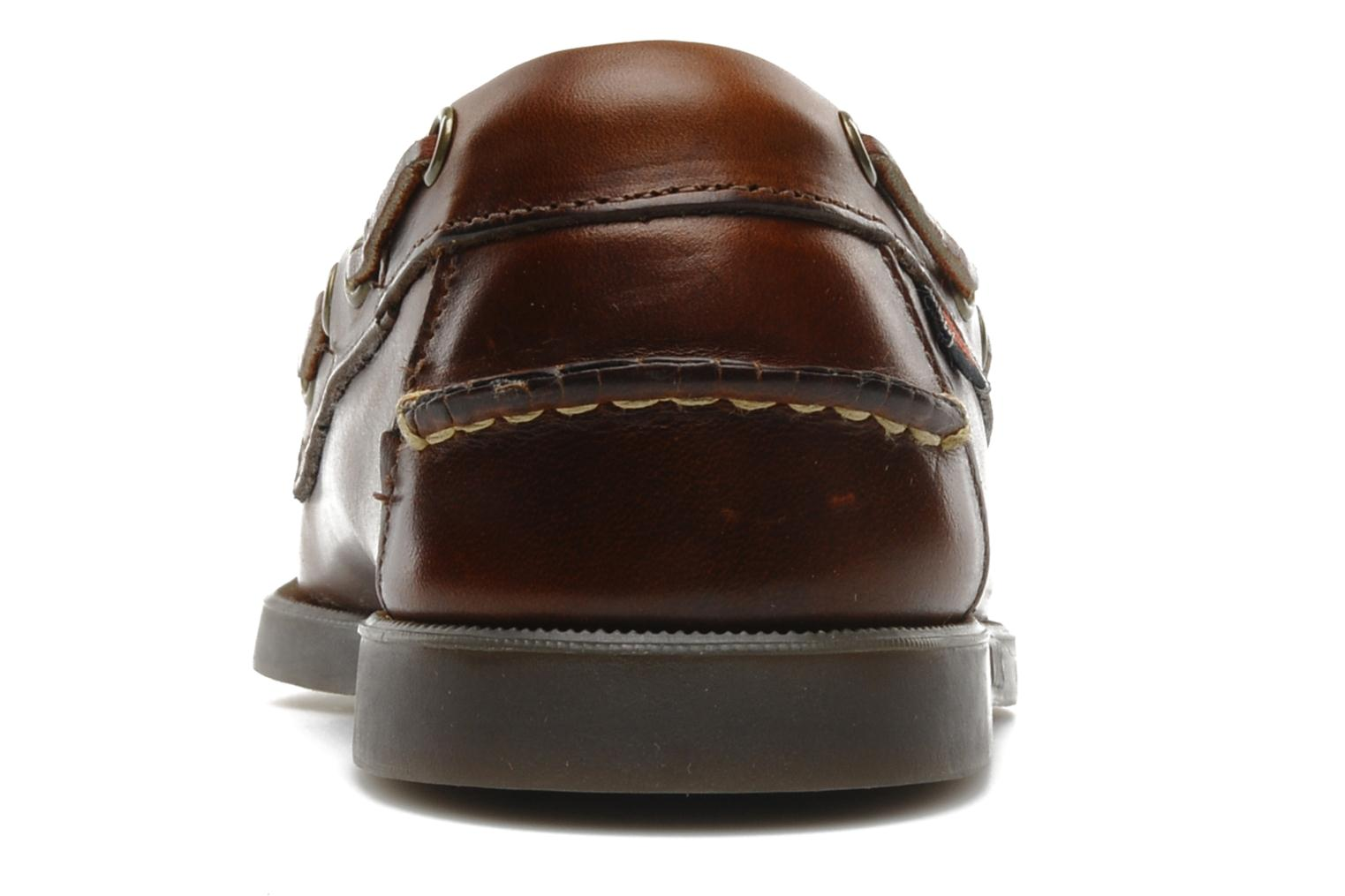 Lace-up shoes Sebago Docksides M Brown view from the right