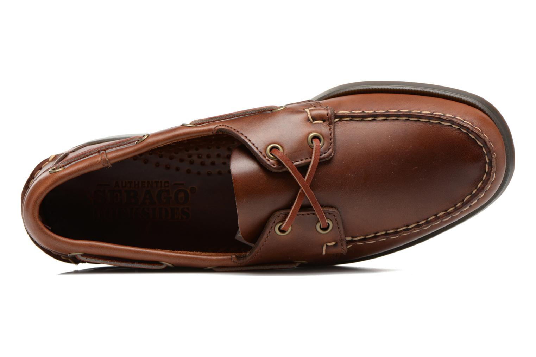 Chaussures à lacets Sebago Docksides M Marron vue gauche