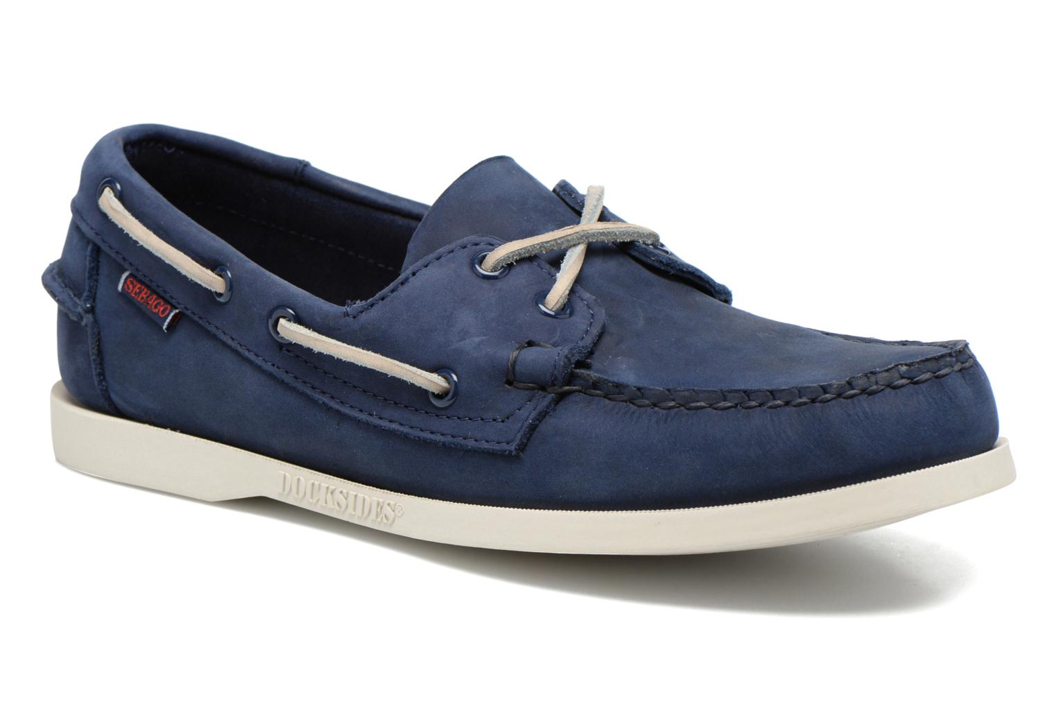 Lace-up shoes Sebago Docksides M Blue detailed view/ Pair view