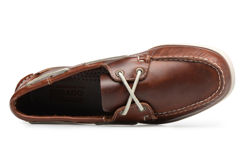 Scarpe con lacci Sebago Docksides M Marrone immagine sinistra