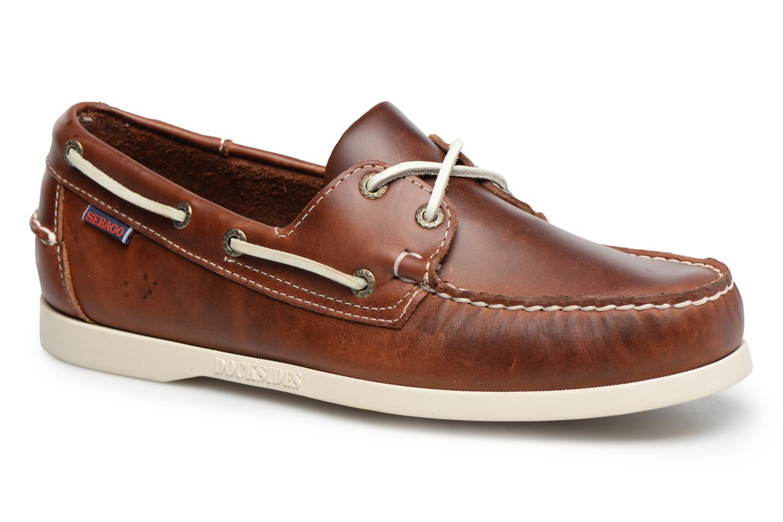 Zapatos con cordones Sebago Docksides M Marrón vista de detalle / par
