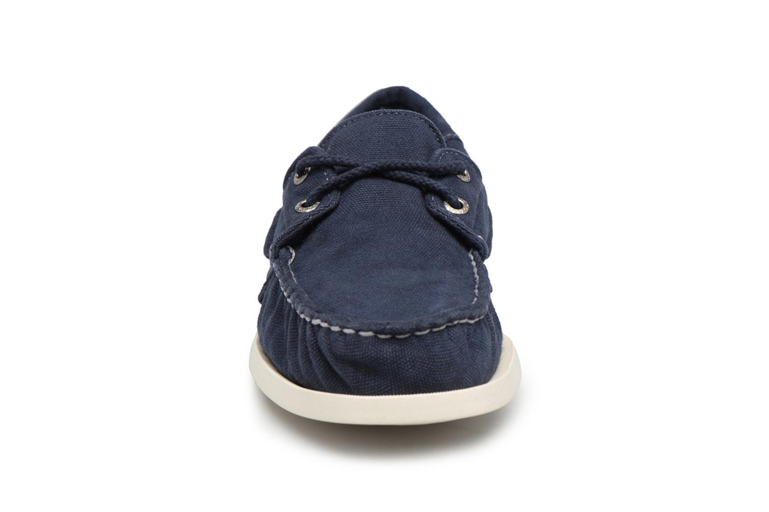 Lace-up shoes Sebago Docksides M Blue model view