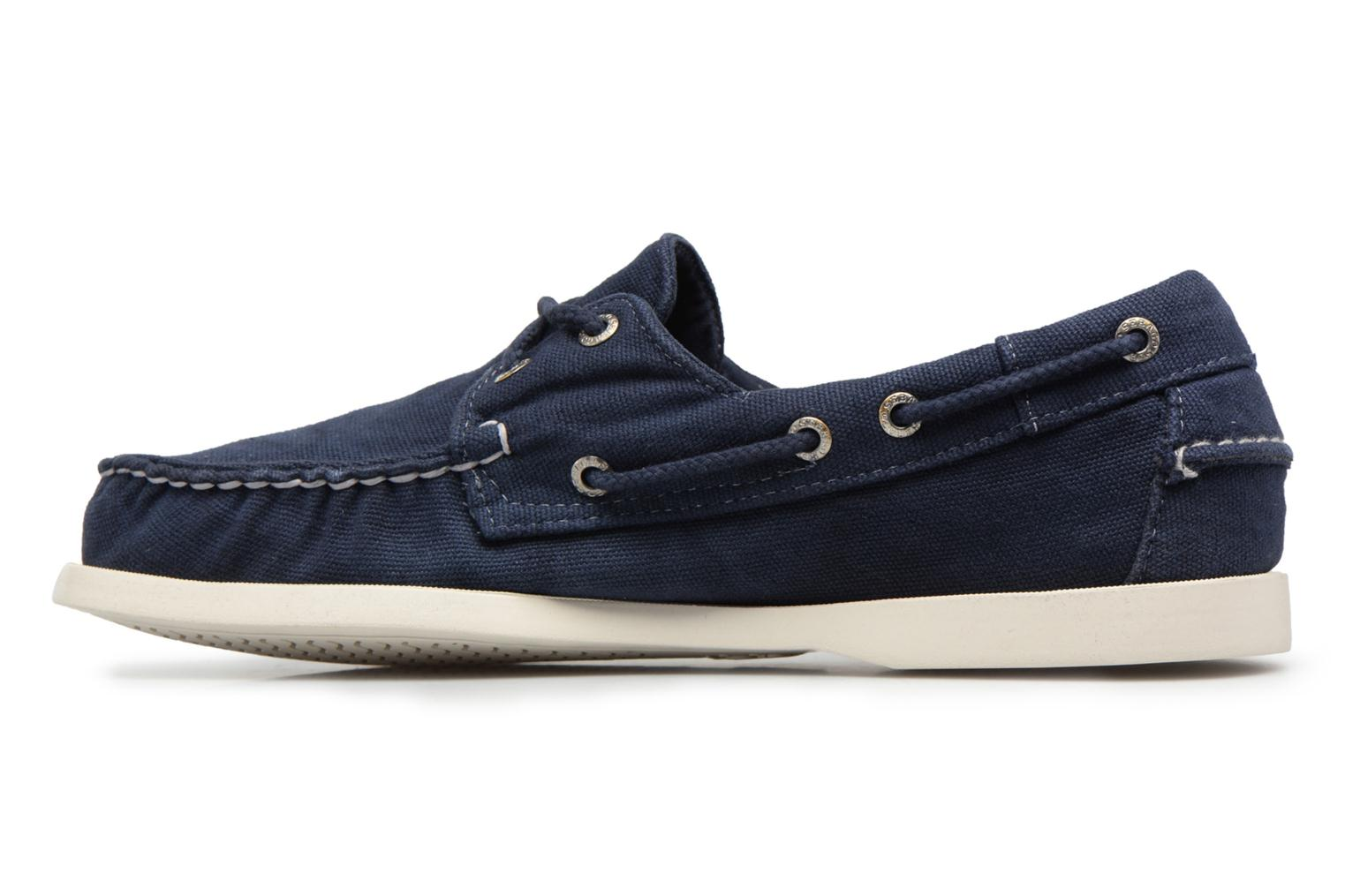 Lace-up shoes Sebago Docksides M Blue front view