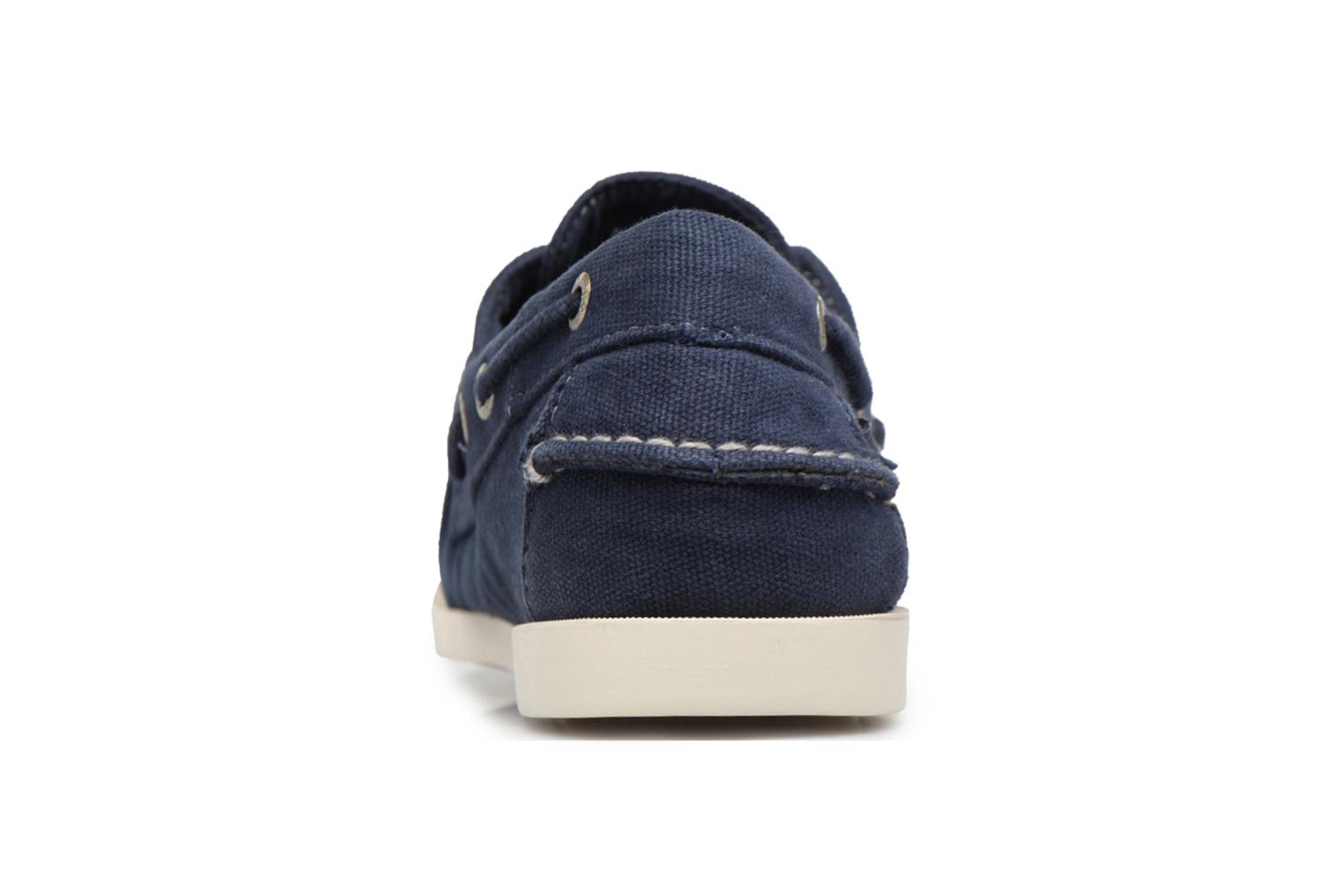 Lace-up shoes Sebago Docksides M Blue view from the right