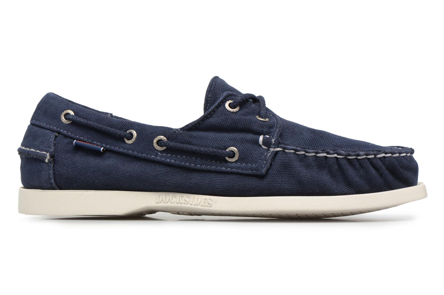 Lace-up shoes Sebago Docksides M Blue back view