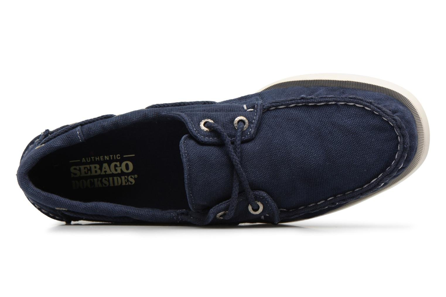 Lace-up shoes Sebago Docksides M Blue view from the left