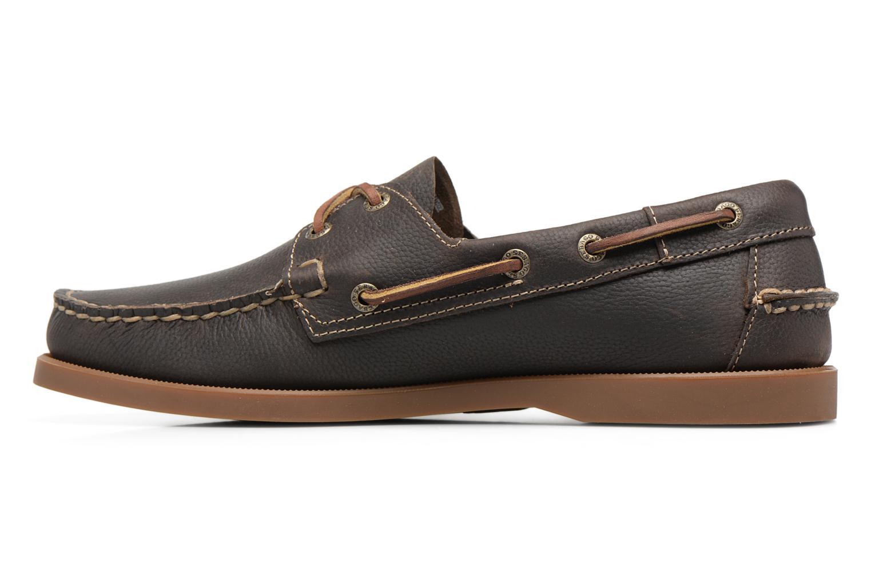 Snörade skor Sebago Docksides M Grön bild från framsidan