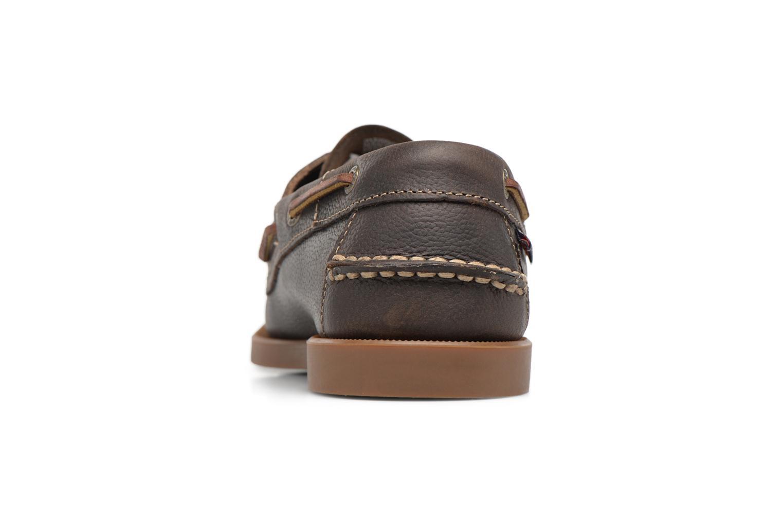 Snörade skor Sebago Docksides M Grön Bild från höger sidan