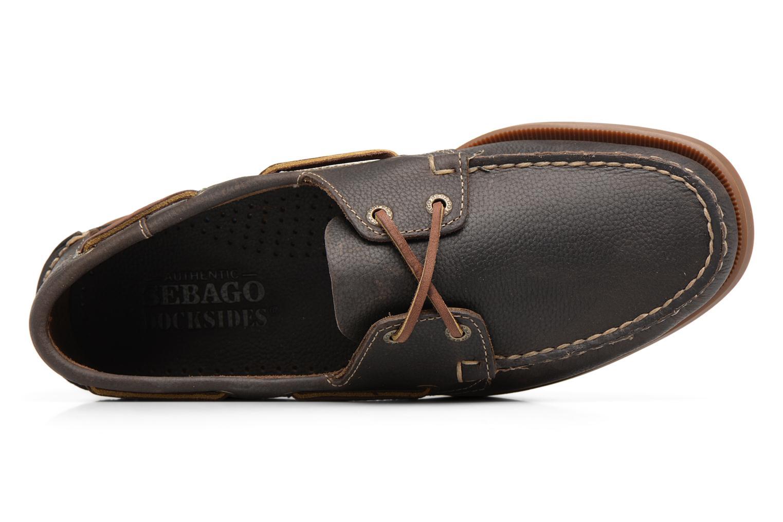 Snörade skor Sebago Docksides M Grön bild från vänster sidan