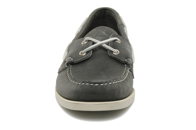 Schnürschuhe Sebago Docksides M grau schuhe getragen